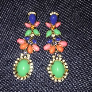 J crew multicolor tiered earrings.
